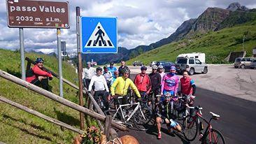 Gruppe auf Passo Valles