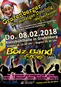 Plakat Schmotziger Doschtig 2018